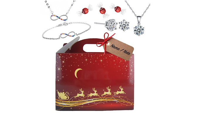 Luxury Christmas Gift Box With Gifts From Swarovski & Lindt Chocolates - 4 Options