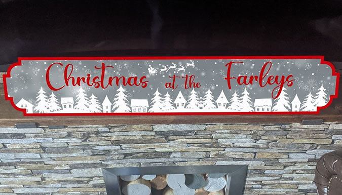 Personalised 2021 Christmas Street Sign - 2 Sizes & 5 Colours from Discount Experts