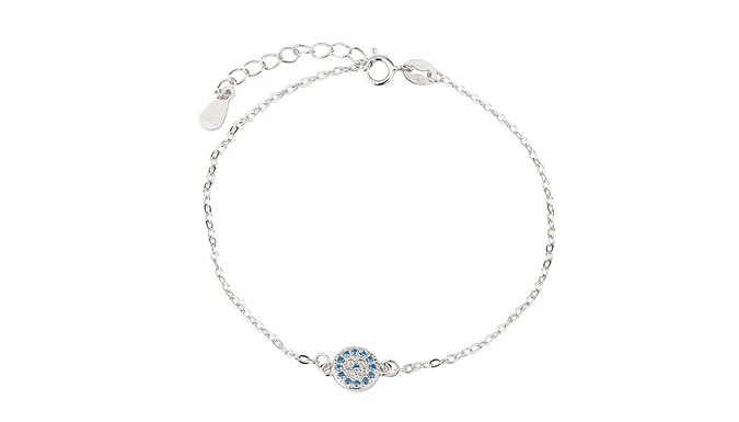 Silver Plated Blue Crystal Jewellery Set – Bracelet, Ring or Earrings Deal Price £ 14.99