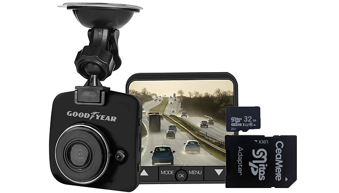 Goodyear Mini HD Dash Cam With 32GB Memory Card from Discount Experts