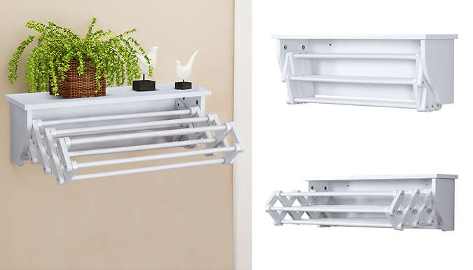 Wall-Mounted Extendable Drying Rack