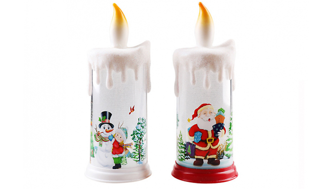 LED Christmas Candle - 4 Designs from Discount Experts