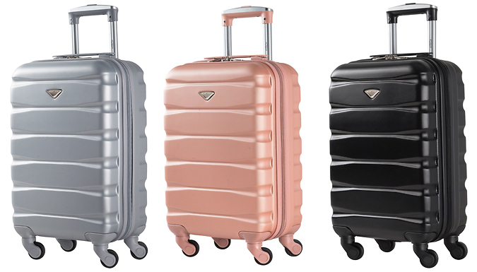 3-Digit Lockable Cabin Hand Luggage - 5 Colours from Discount Experts