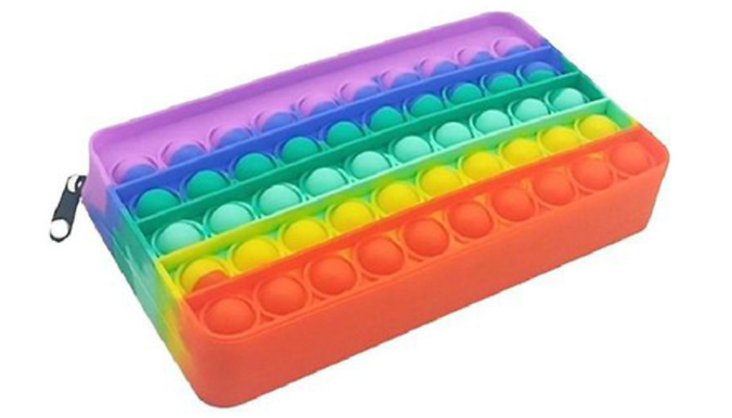 Silicone Pop It Pencil Case from Discount Experts