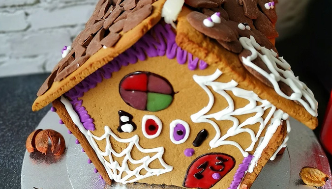 Personalised Spooky Halloween Gingerbread House Baking Kit from Discount Experts