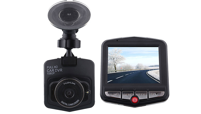 HD Car Dash Camera with Night Vision - Optional 32GB SD Card from Discount Experts
