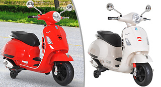 4773441fa811 For just £69.99 watch them whiz around with the Kids  Vespa Inspired  Electric Motorcycle With Music   LED Lights - save 65%