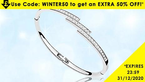 Discount Experts Swarovski Elements Triple Crystal Row Bracelet ...